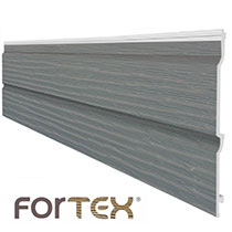 Storm Grey 333mm Embossed Double Plank Shiplap Cladding