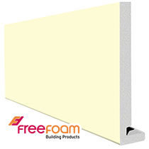 18mm Square Pale Gold Magnum Fascia Boards