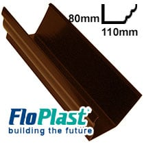 Brown 110mm Niagara Ogee Guttering