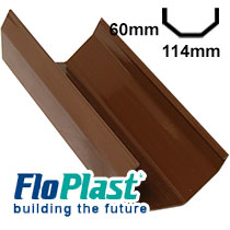 Brown 114mm Square Line Guttering