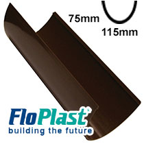 Brown 115mm High Capacity Guttering