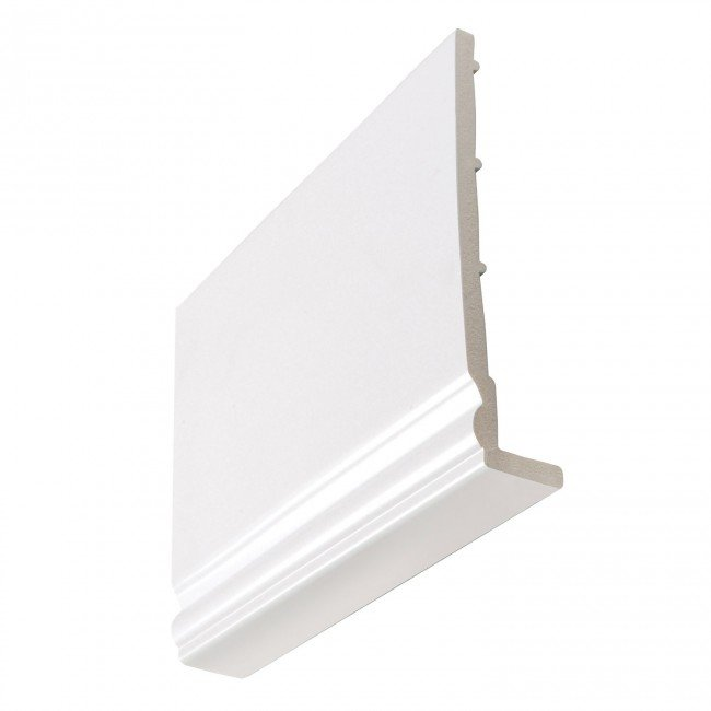 8mm Ogee White Fascia Boards